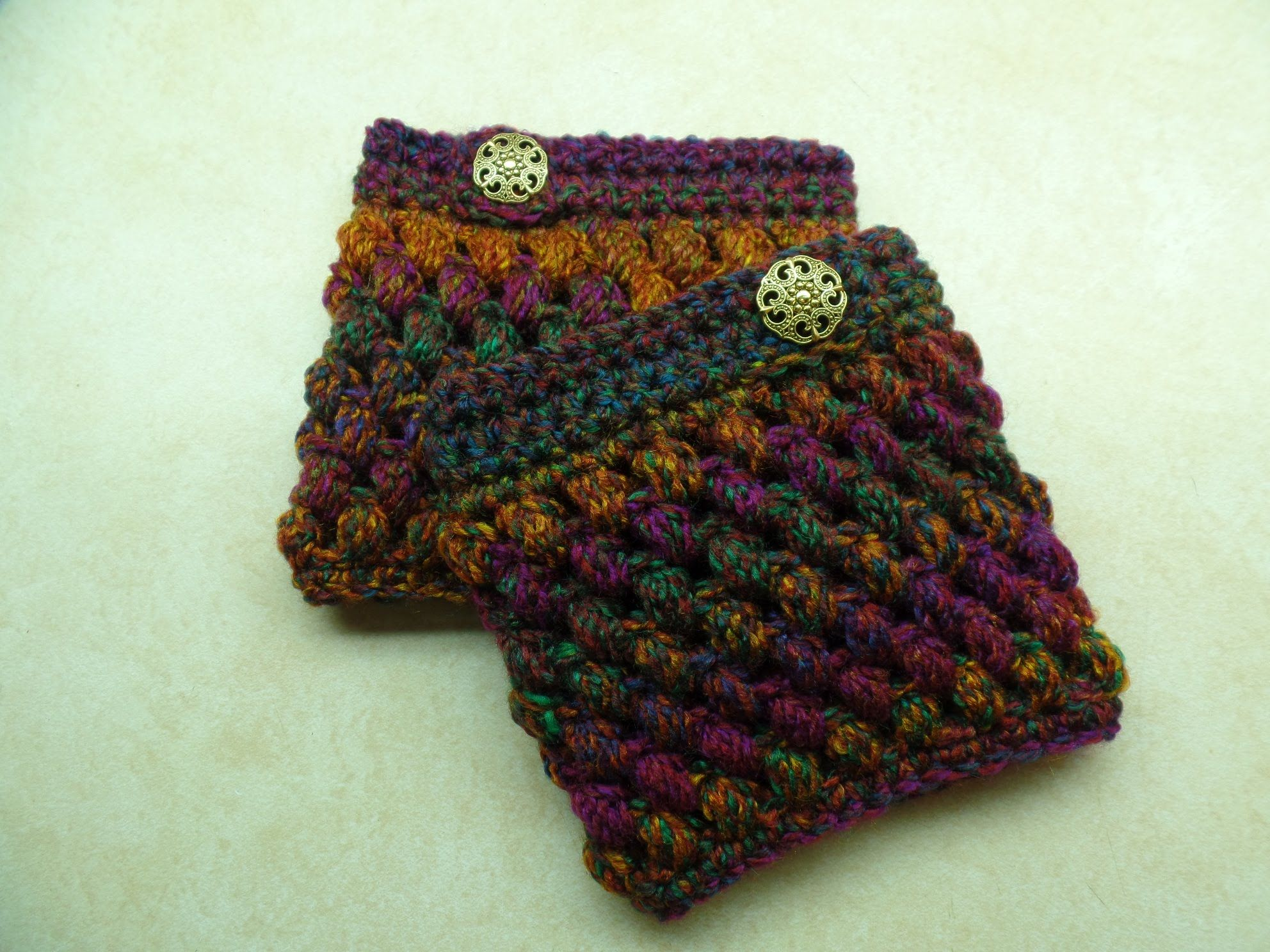 Crochet How To Crochet Puff Cuffs Puff Stitch Boot Cuffs Tutorial