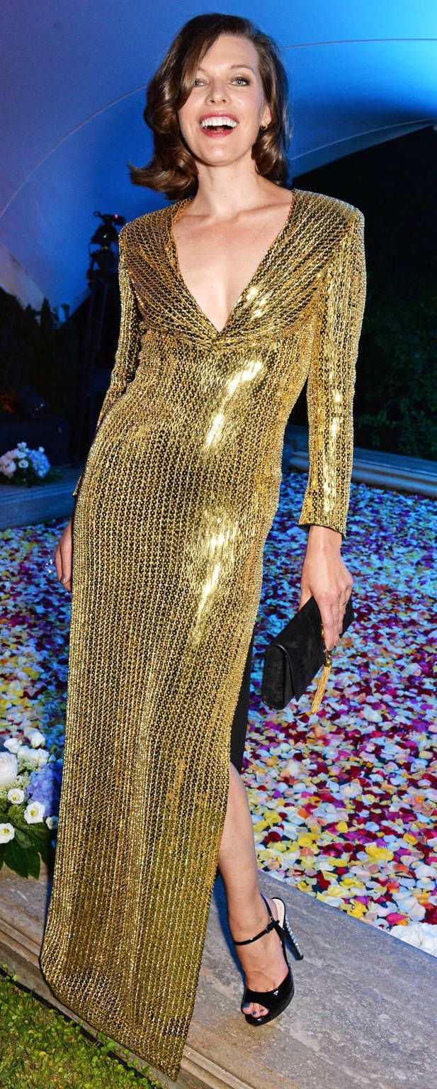Milla jovovich celebrity dresses red carpet pinterest red carpet
