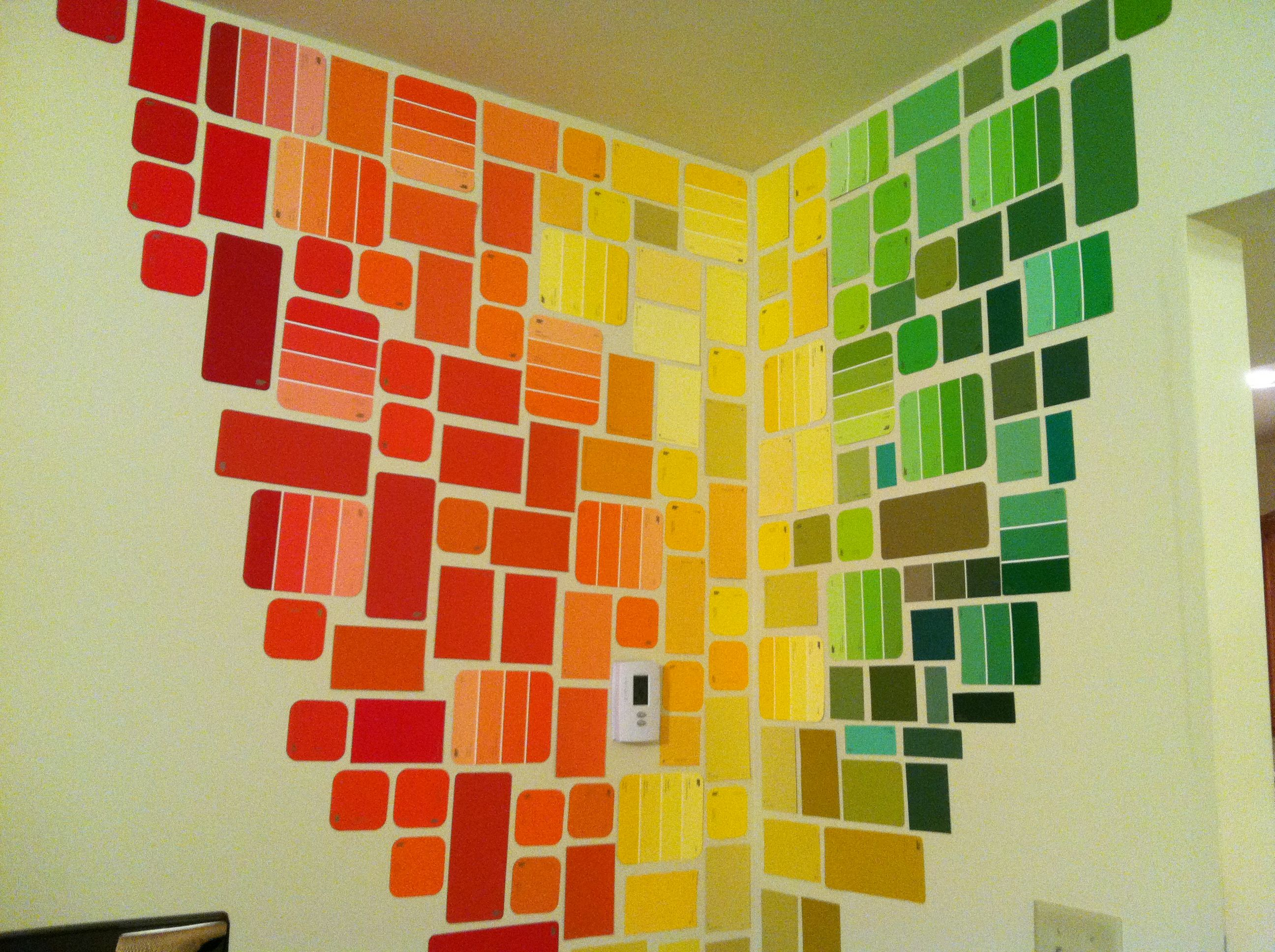 Free wall art with paint chips! | PAINT CHIPS = ART | Pinterest ...
