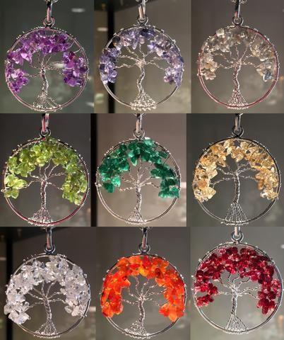 NEW! Choose your stone - Chakra Tree of Life Pendants