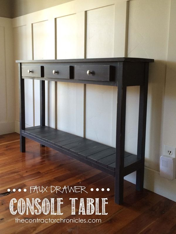 Faux Drawer Farmhouse Console Table: Spencer And Amanda Jones Of The  Contractor Chronicles Built This
