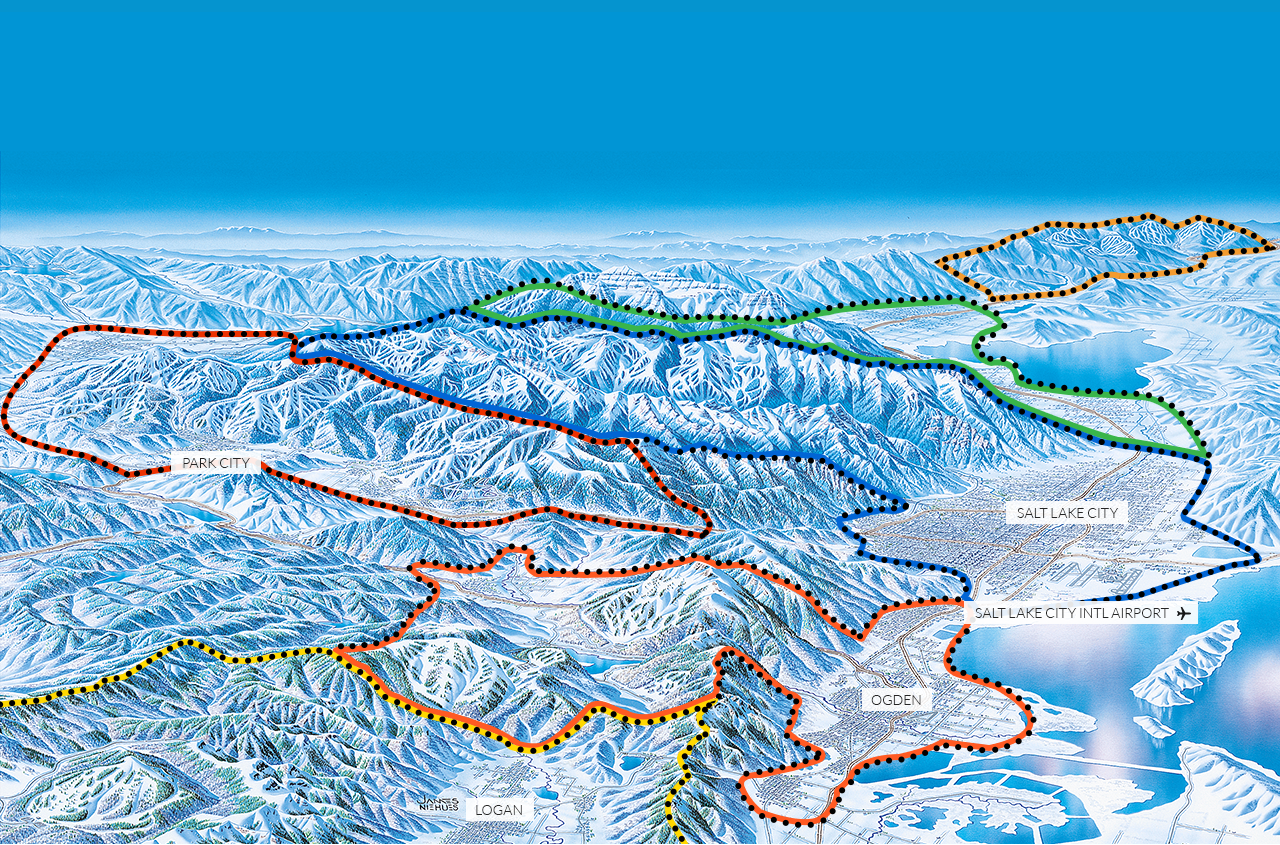 Map Of Utah Resorts Utah Skiing Utah Ski Resorts Utah Resorts