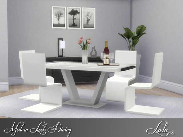 Sims 4 Cc S The Best Modern Look Dining By Lulu265 The Sims 4