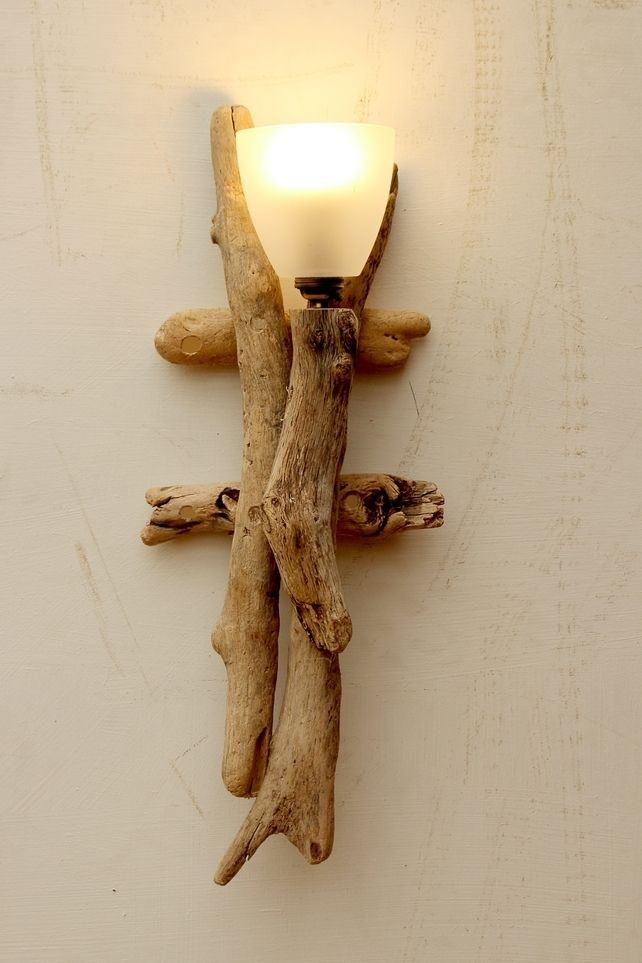 Driftwood Wall Light, Drift wood Wall Light, Drift Wood wall sconce Light Lamp  £75.00