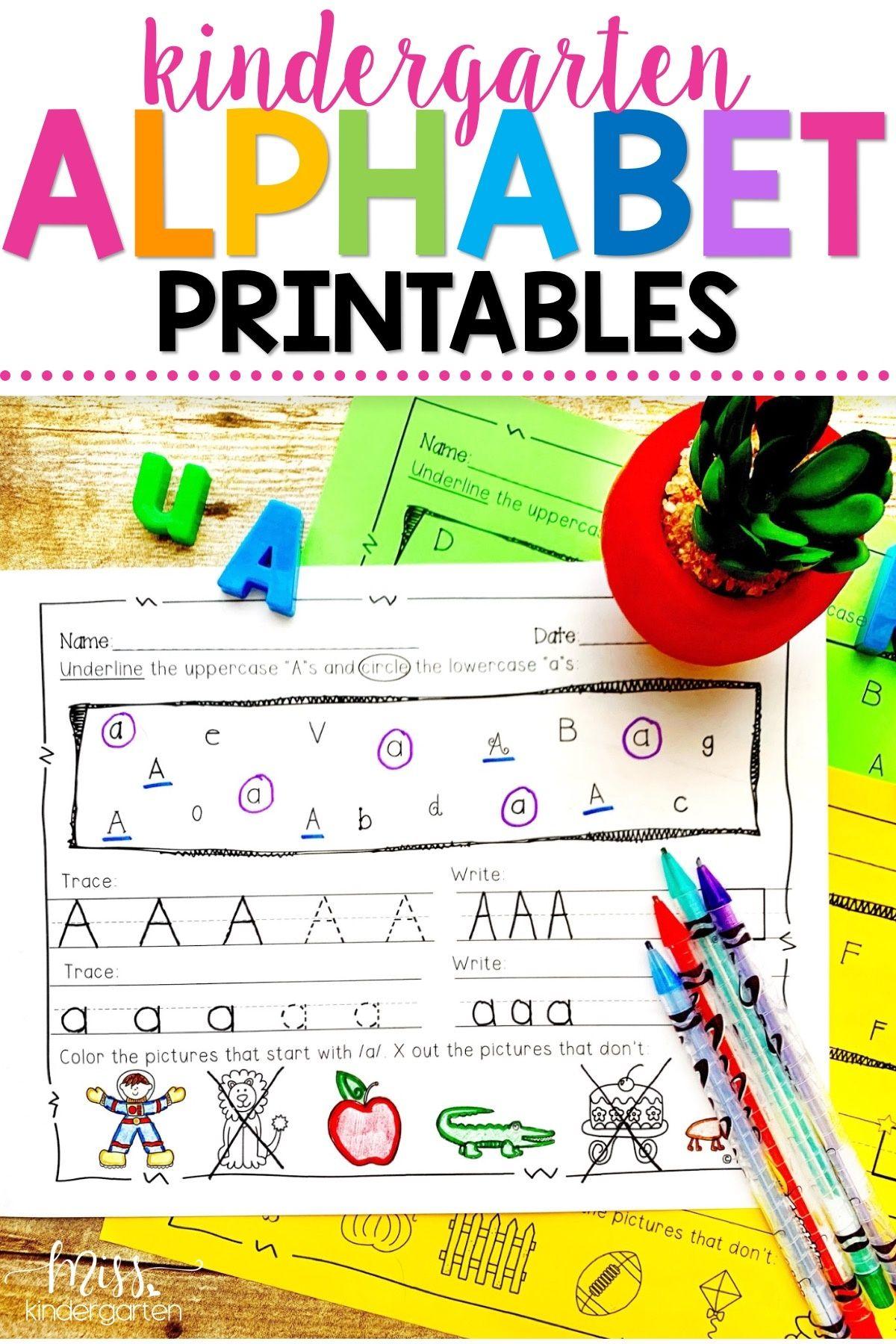 These Fun Printable Alphabet Practice Activities Will Help