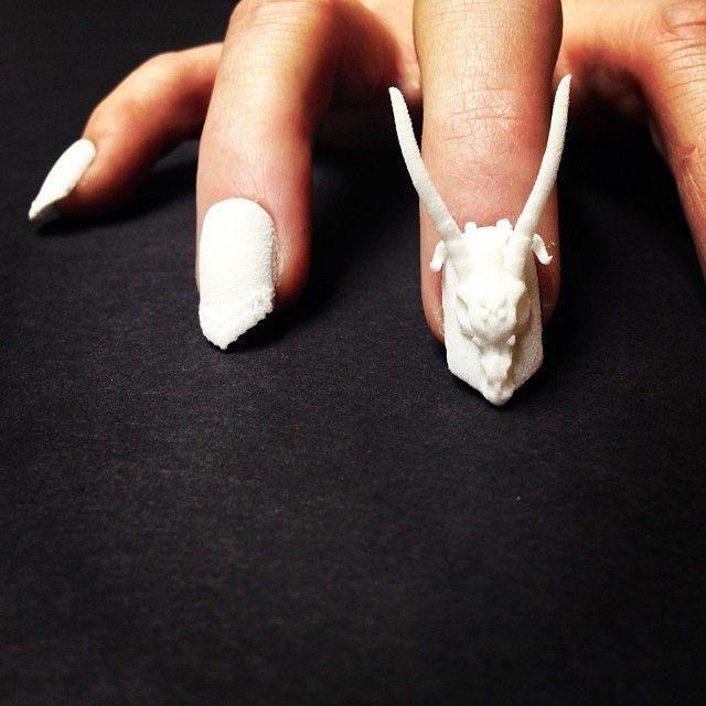 3d Printed Nails Nailklub Nailart Finger Paint Pinterest 3d