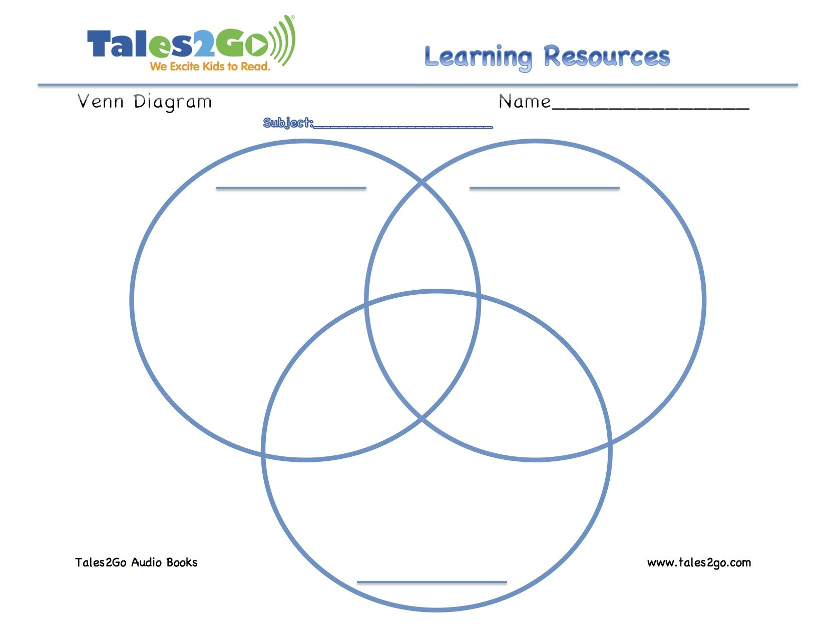 Tales2go venn diagram with 3 circles use with your daily 5 tales2go venn diagram with 3 circles use with your daily 5 listening station or ccuart Image collections