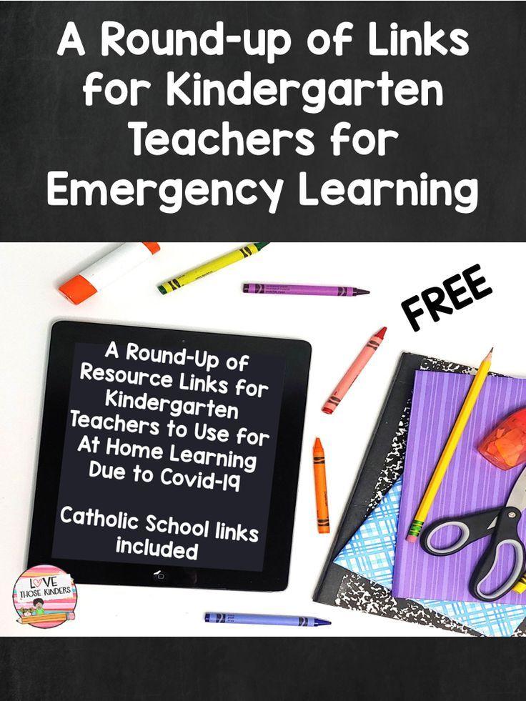Photo of Emergency Learning Links for Kindergarten Teachers