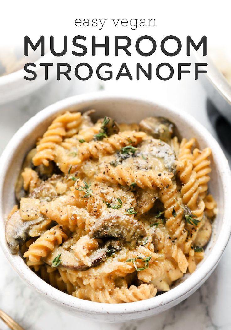 Easy Vegan Mushroom Stroganoff This Vegan Mushroom