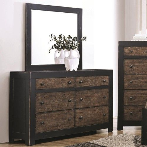 coaster segundo rustic dresser mirror set coaster fine furniture