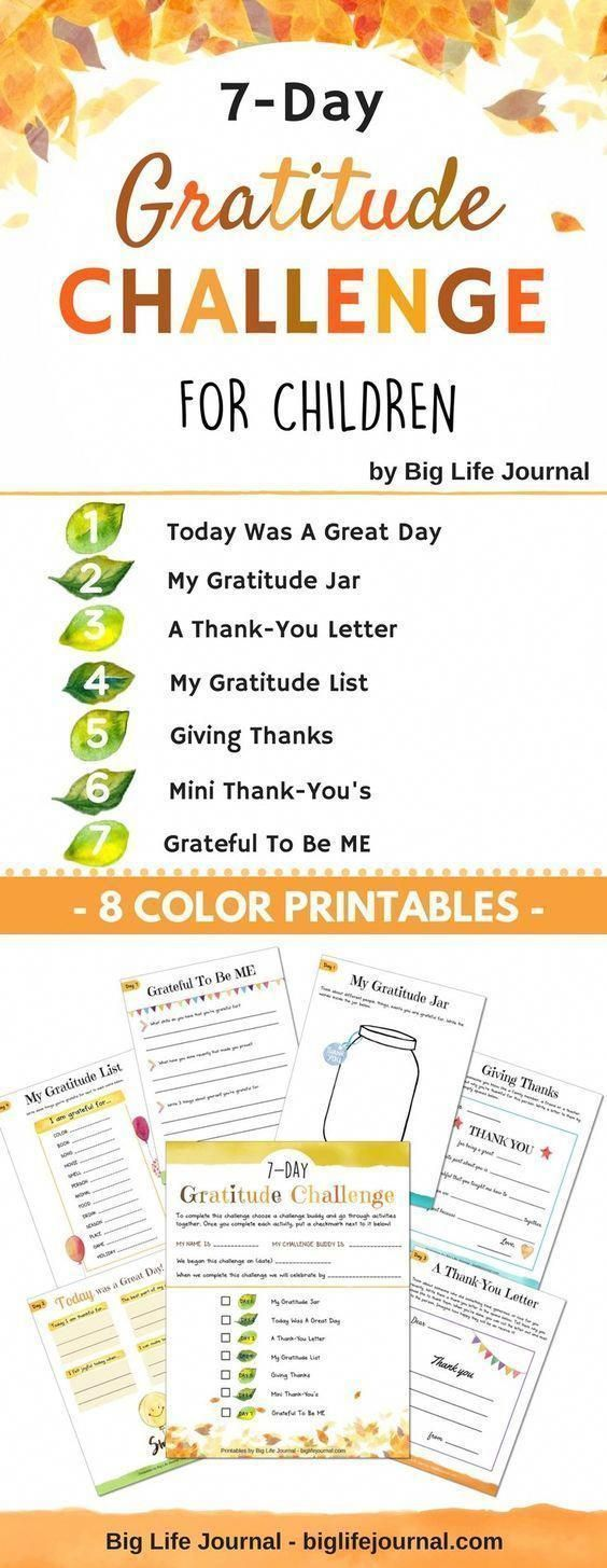 Growth Mindset Printables Kit Pdf Ages 5 11 Teaching Gratitude Gratitude Challenge Mindfulness For Kids