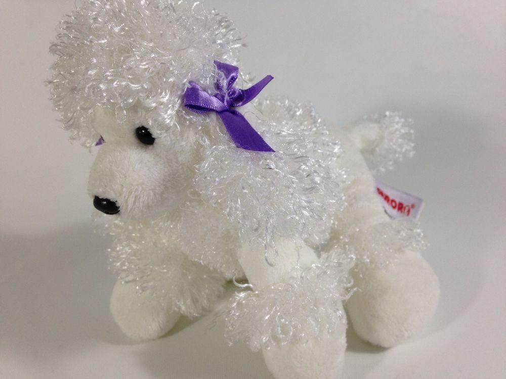 Aurora french white poodle plush puppy dog stuffed animal