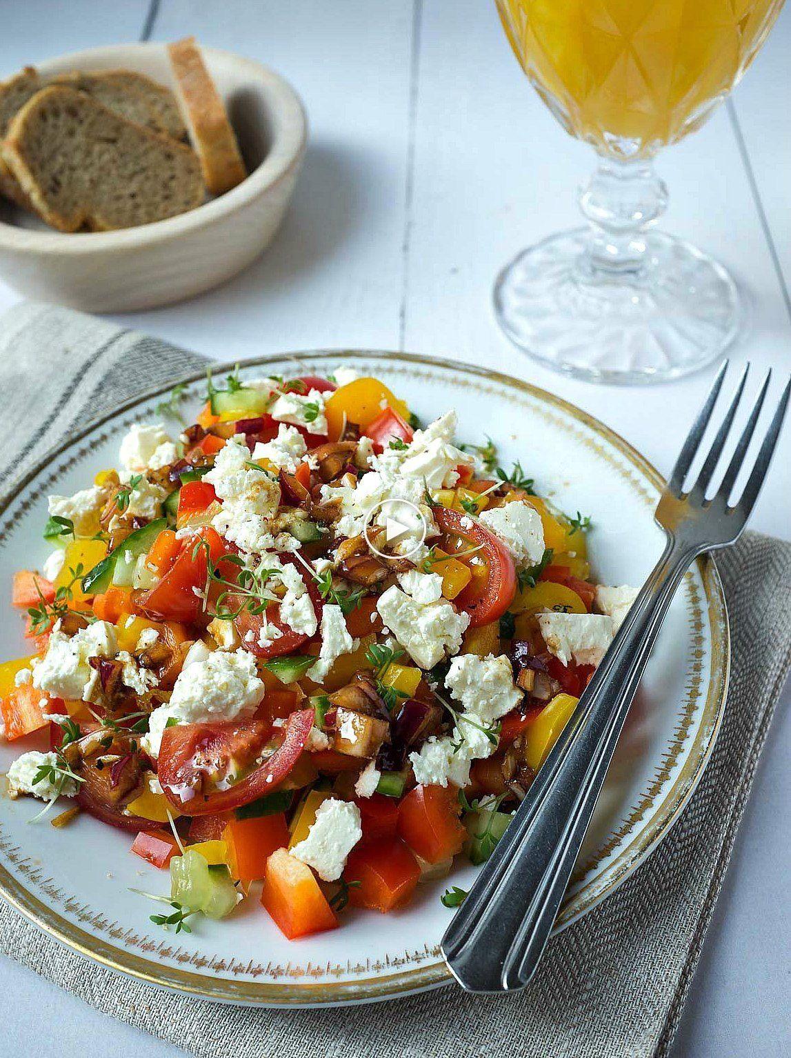 Délicieuse salade de paprika   recettes rapides de ma cuisine ...