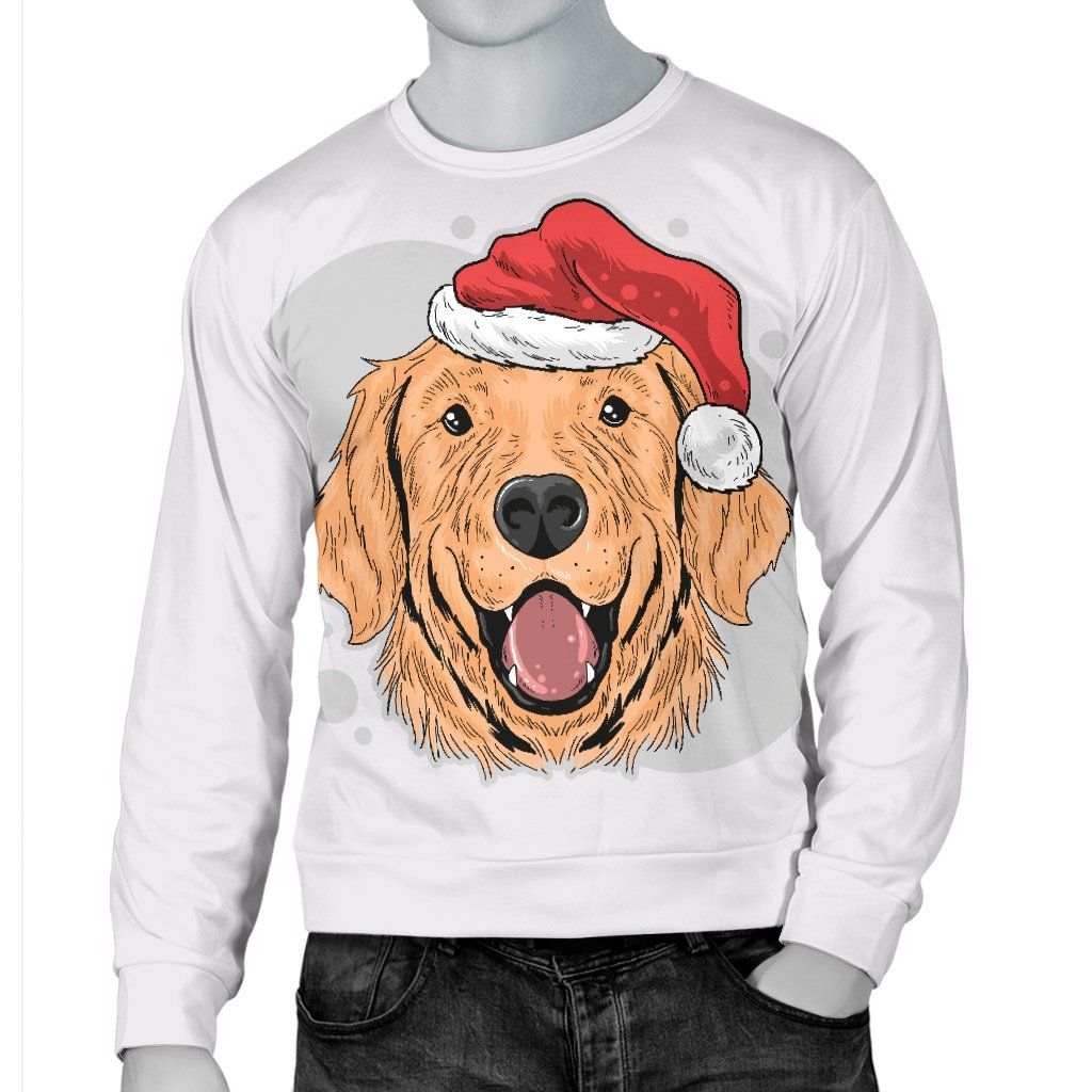 Have A Golden Christmas Men S Sweater For Golden Retriever Dog