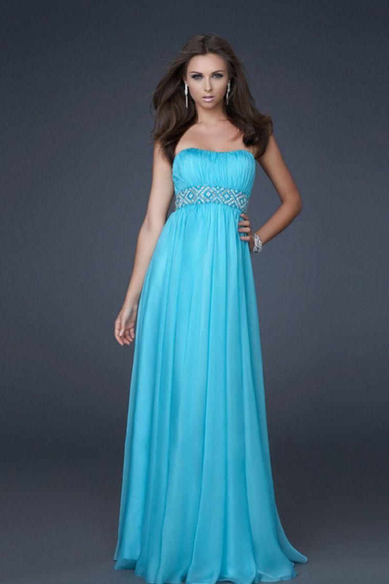 Chic & Modern Empire Waist Chiffon Floor Length Beading/Sequins Prom ...