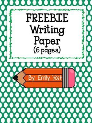 Free, Printable Cupcake Birthday Classroom Decoration Writing - free printable writing paper
