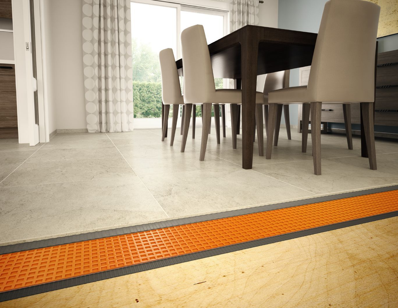 Schluter Ditra Ditra Xl System To Use Over Concrete Or Wood Floor To Prevent Cracks In Tile Home Renovation House Wood Floors