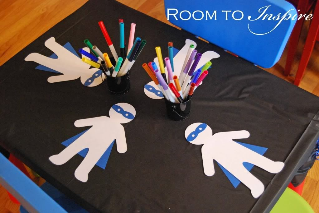 make your own superhero character with felt tip pens