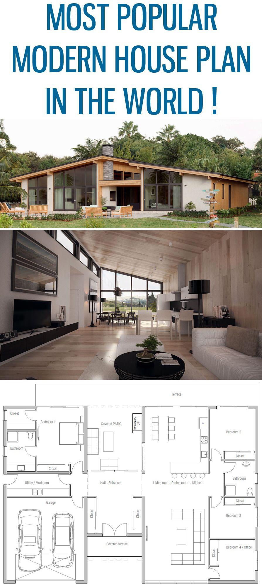 Most Popular Modern House Plan Home Plan Floor Plan House Plan Architecture House Plans Modern House Plan Modern House Plans