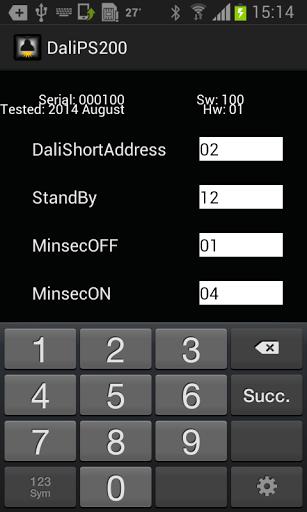 La APP permette di configurare l' alimentatore off line tramite NFC  http://Mobogenie.com