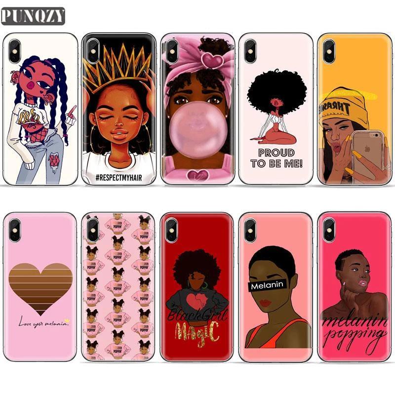 Black Girl Magic Rock Melanin Poppin Queen Phone Case For Iphone