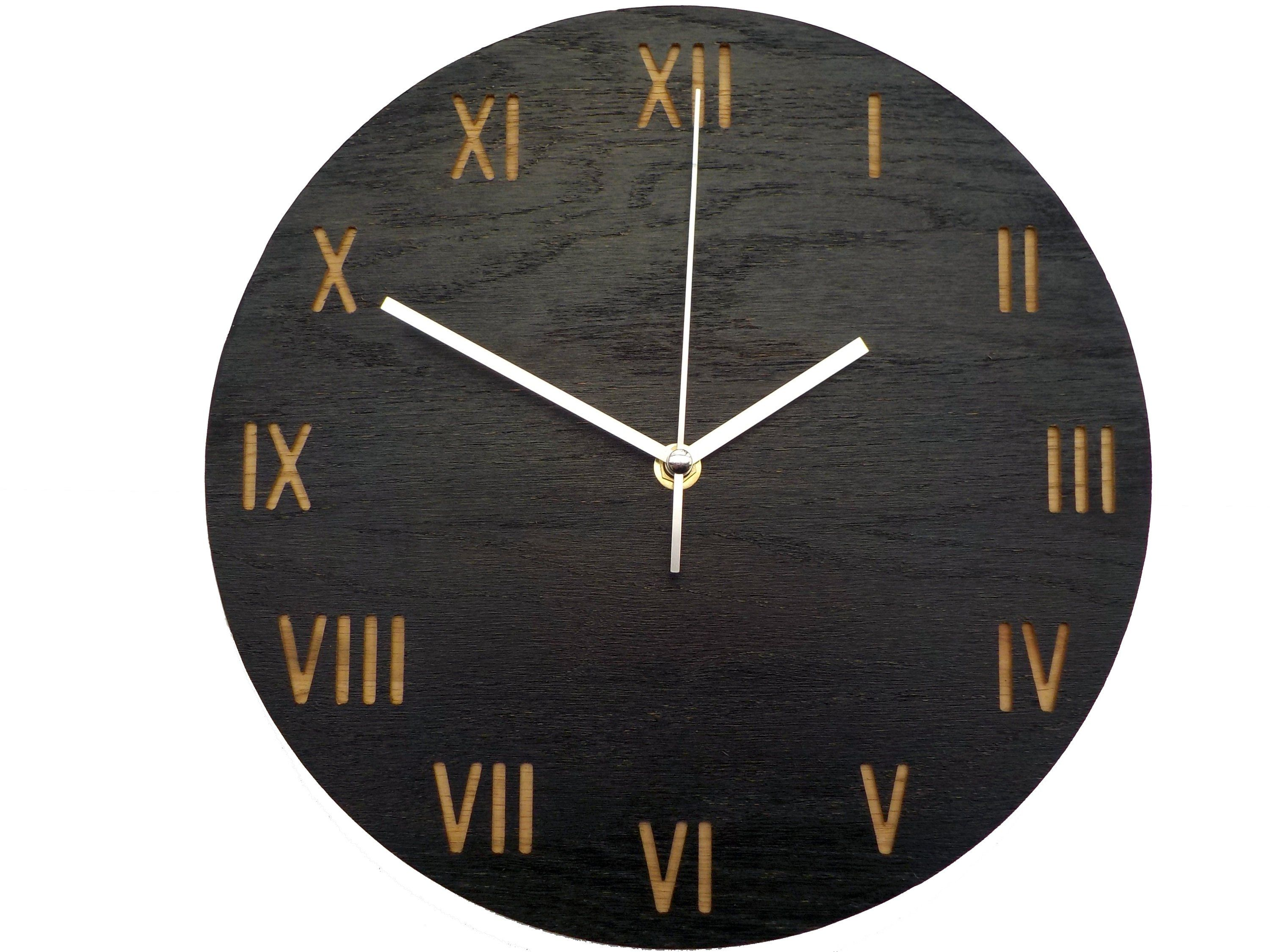 Modern Wall Clock Wall Clock Engraved Clock Modern Clock Natural Oak Wood Clock Wall Clock Roman Number Clock Minimalist Clock Minimalist Clocks Wall Clock Modern Wood Clocks