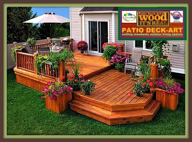 patios bois modele design trex deck cedre photo cour arri re pinterest patio en. Black Bedroom Furniture Sets. Home Design Ideas