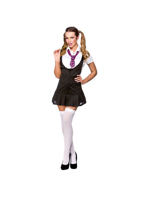Naughty School Girl Ladies Fancy Dress Costume Sexy Hen Night College Outfit  New 4aed40356568