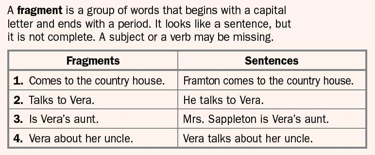 pin by julie reid on fragments   fragment examples, sentence fragments