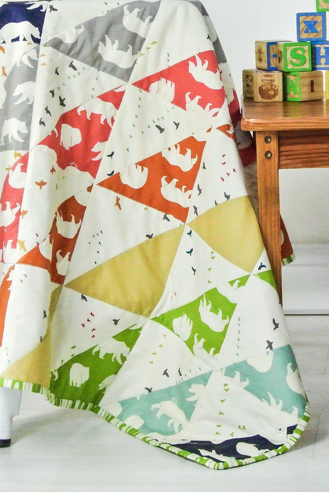 birchfabrics: Free Pattern + A Giveaway | The Bear Necessities Quilt
