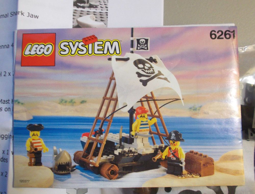 LEGO SET #6261 PIRATES RAFT COMPLETE W/ Manual INVENTORY - NO BOX ...