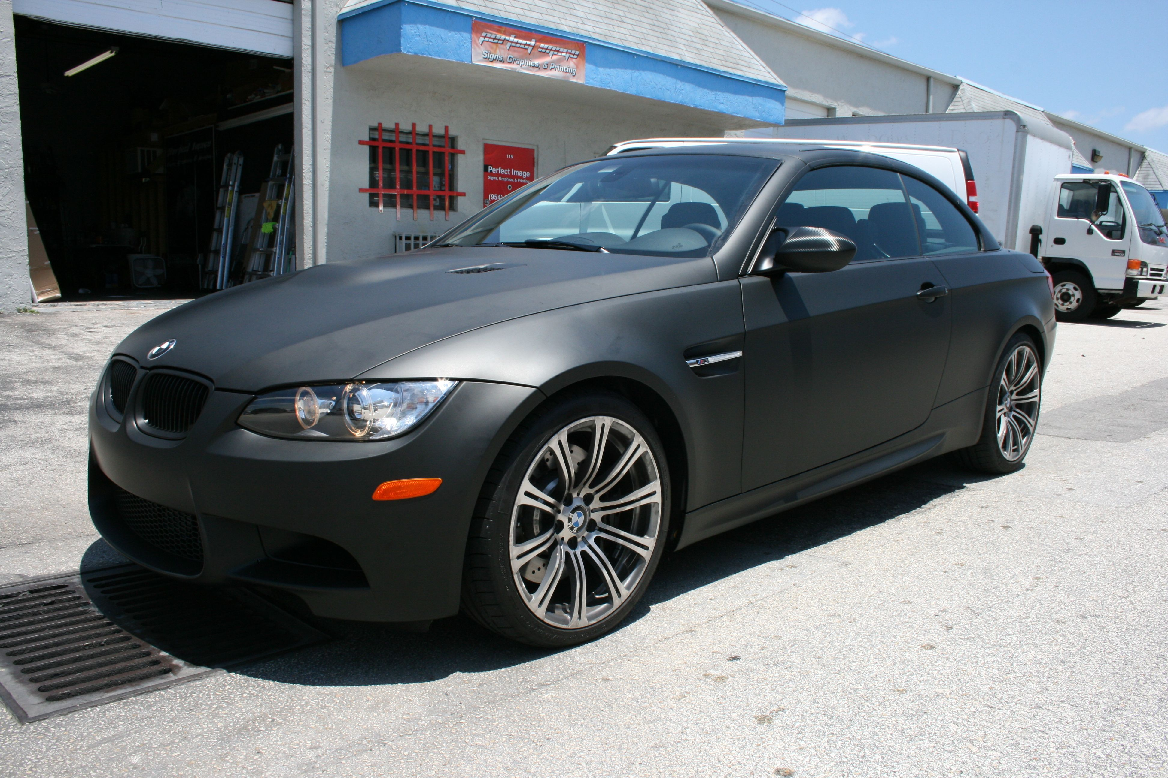 Custom bmw matte black car wrap fort lauderdale florida