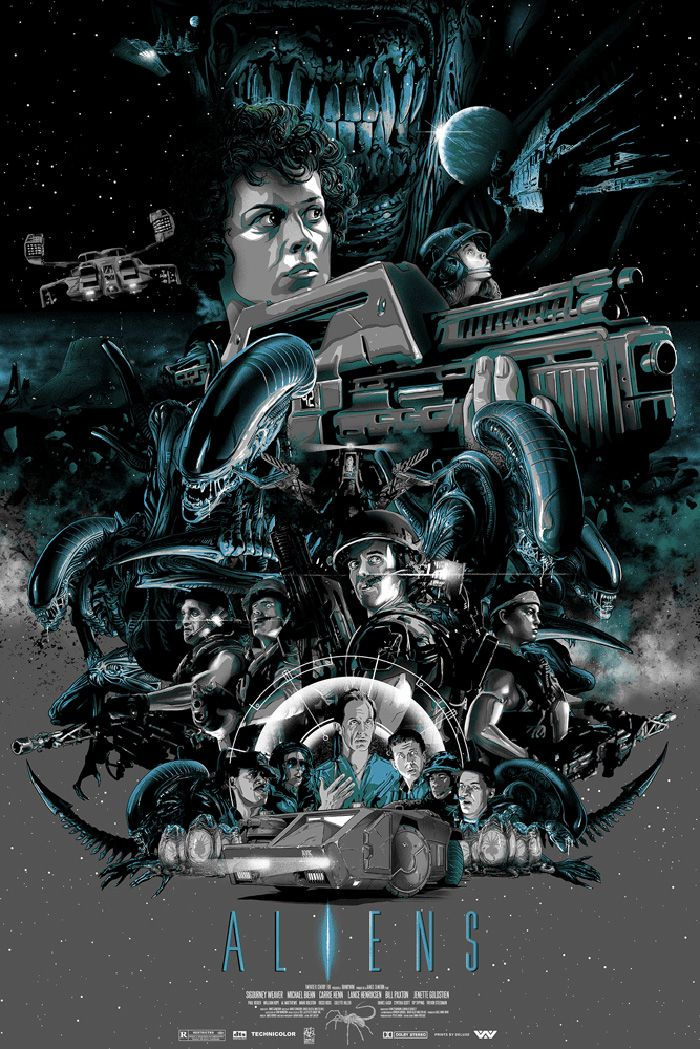 Aliens By Vance Kelly Home Of The Alternative Movie Poster Amp Film Posters Art Aliens Movie Movie Poster Art