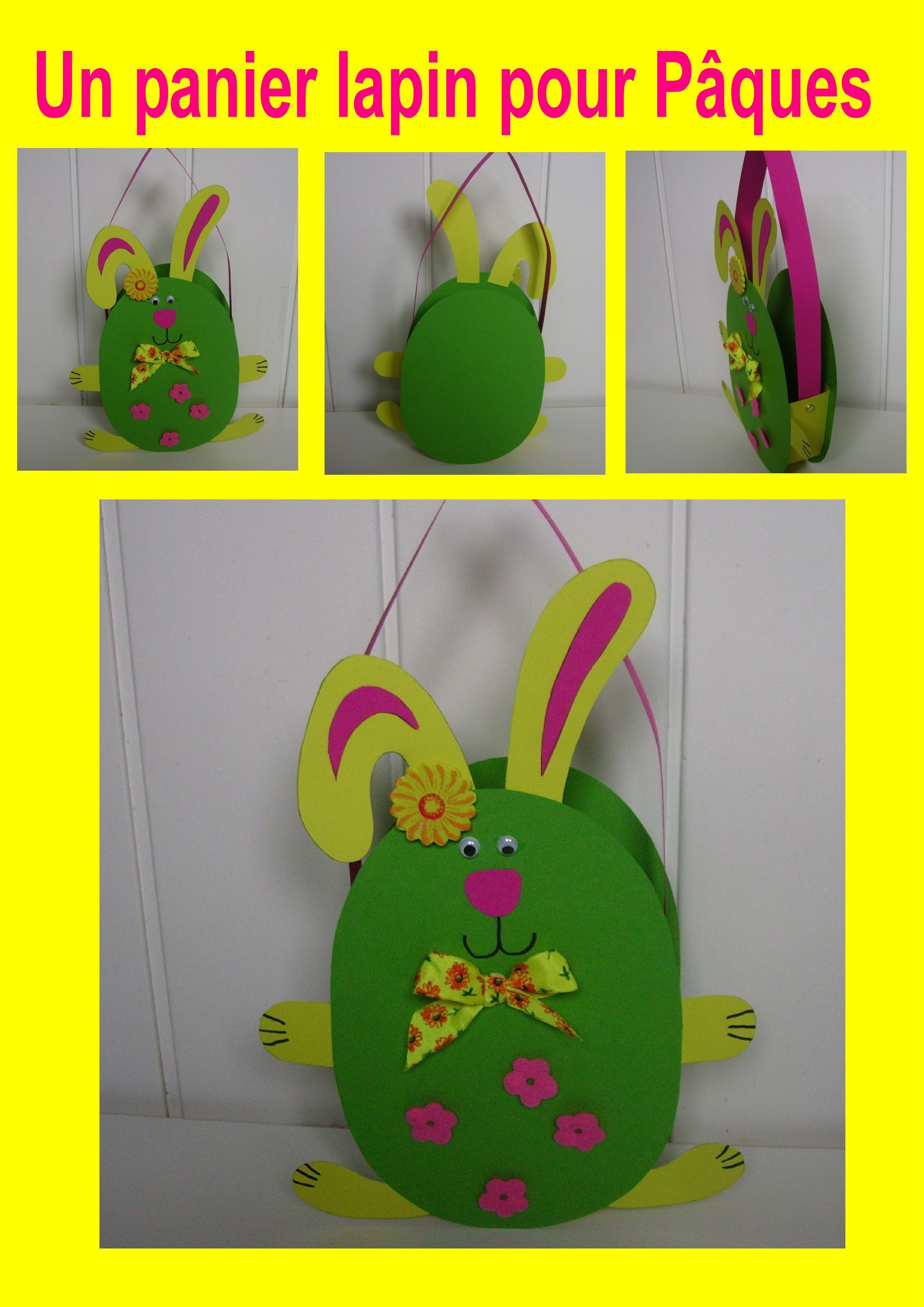 un panier lapin pour pâques | activité | bricolage paques, panier de