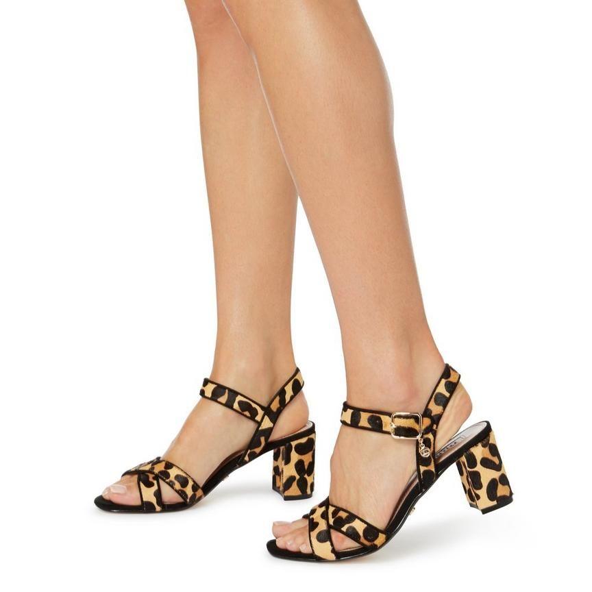 MEGZ - Suede Cross Over Strap Sandal