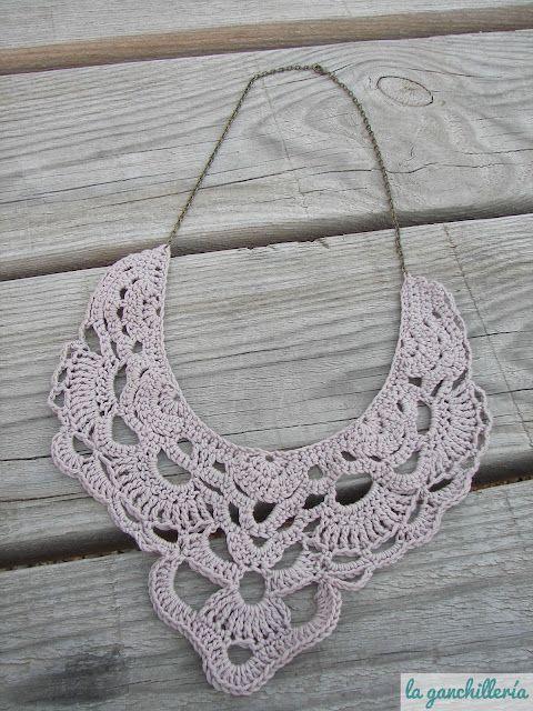 Crochet Collar With Link To Free Pattern Sandalias Pinterest