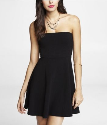 Black Strapless Dress From Express