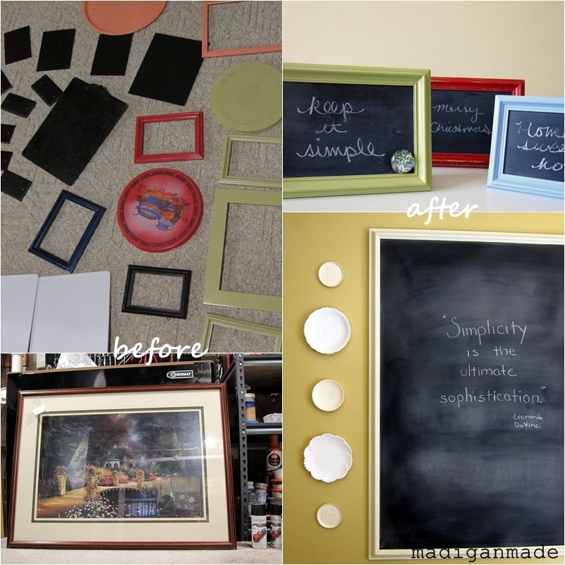 Madigan Made { simple DIY ideas } Chalkboard paint on glass from ...
