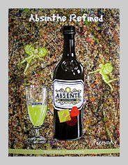 Absente Absinthe Refined art- Homage a Pollock- by John Pacovsky