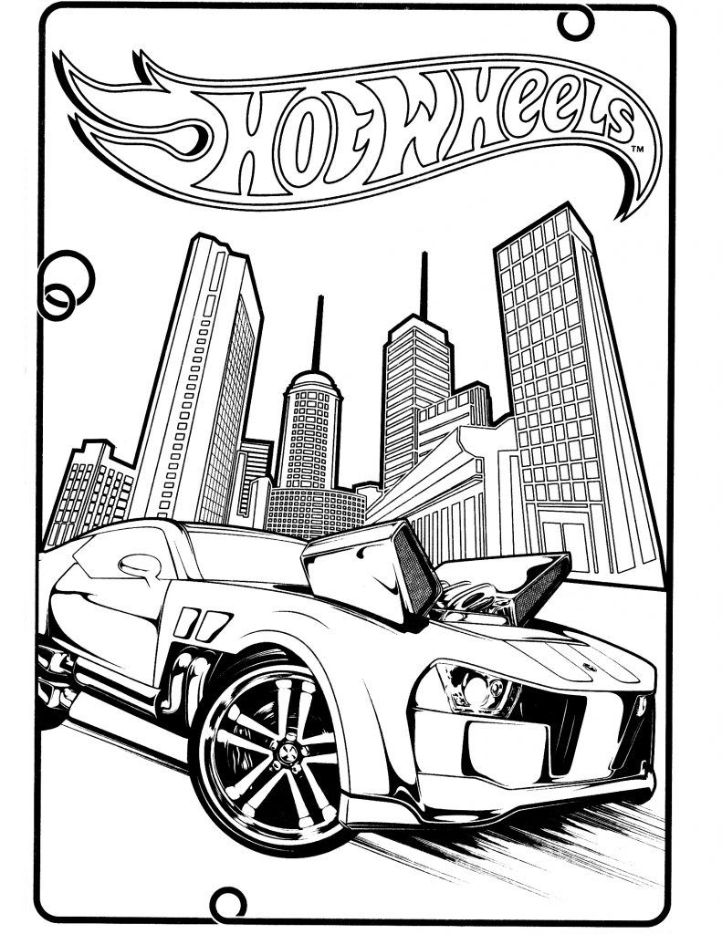 Free printable hot wheels coloring pages for kids hot wheels