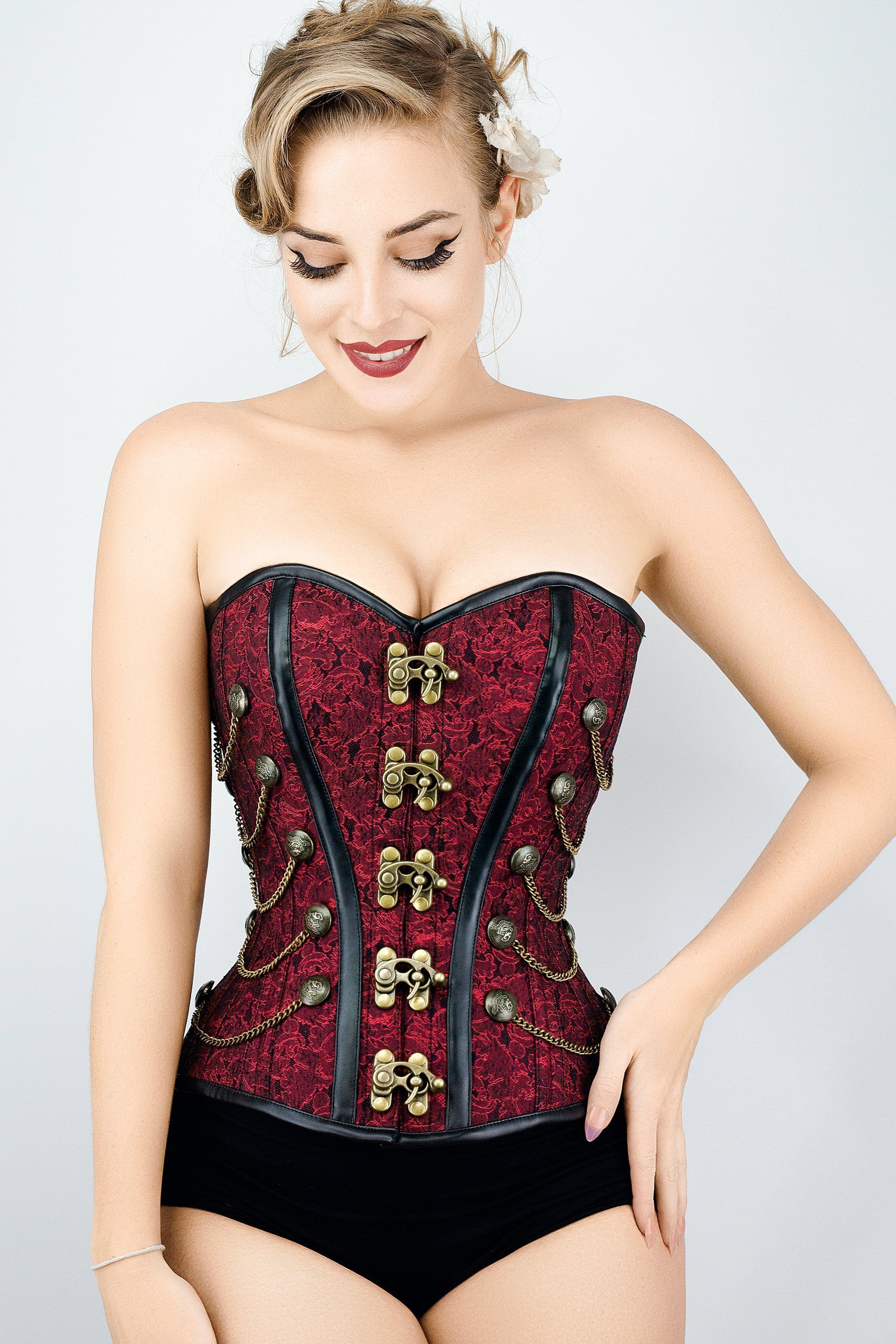 445c89d2dd6 Red Steampunk Corset With Chains - 20 in 2019