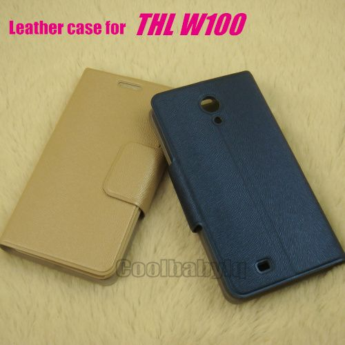 2 Colors,Beige / Blue Leather Stander Support Flip Smart Mobile Phone Cover Case For THL W100 Free Shipping - http://smartphonesaccessories.org/?product=2-colors-beige-blue-leather-stander-support-flip-smart-mobile-phone-cover-case-for-thl-w100-free-shipping