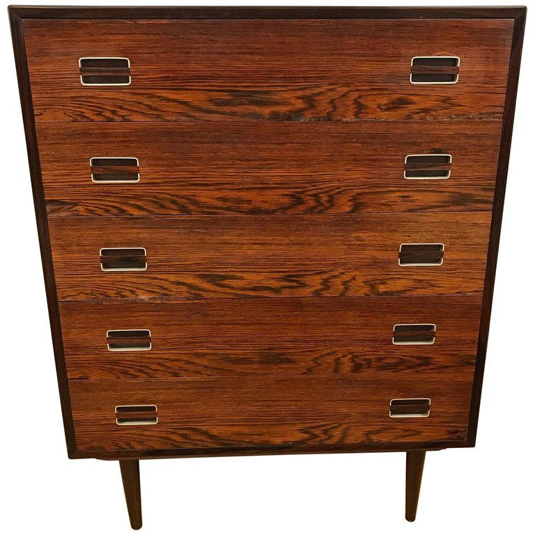 For sale on 1stdibs midcentury rosewood five drawer tall