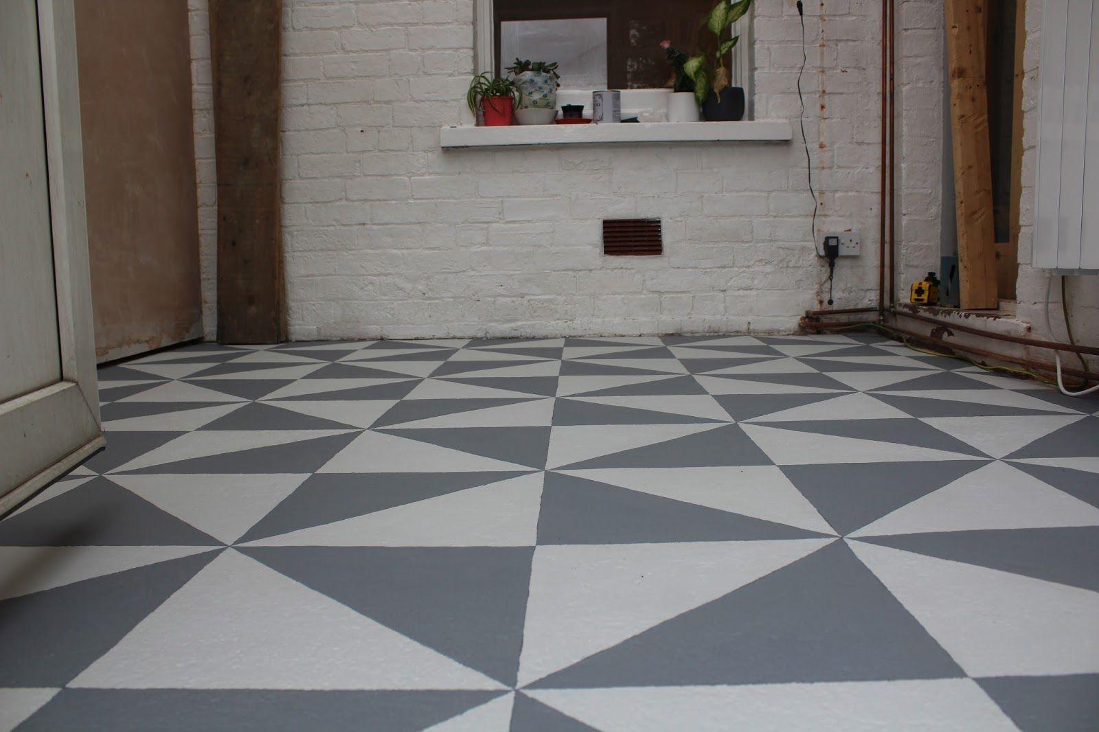 Diy Painting A Patterned Floor Diy Flooring Painted