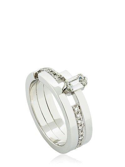 Dauphin Womens White Diamond Ring Zwuod0GNSK