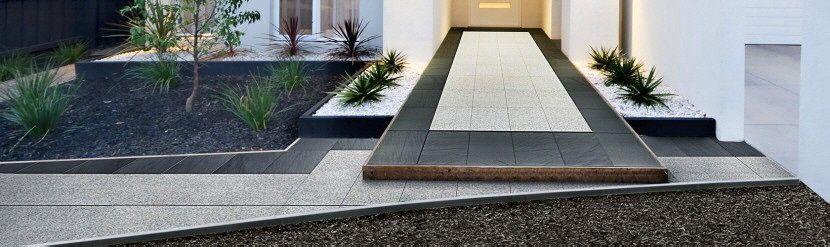 Granit Schiefer eingang granit schiefer kombination bodedn fliesen terrassen