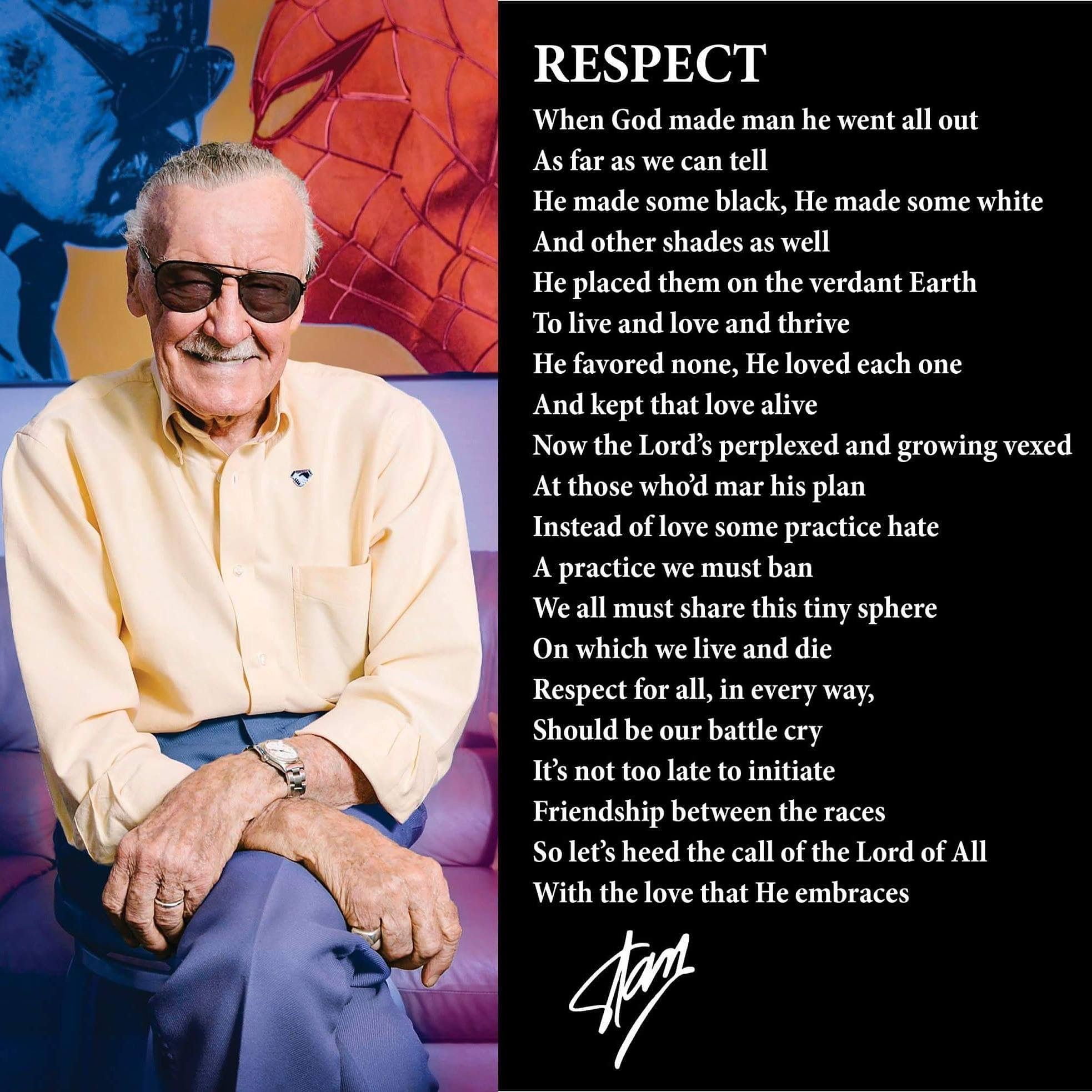 Real Comic Book Hero Respect Legends And Heroes Stan Lee Stan