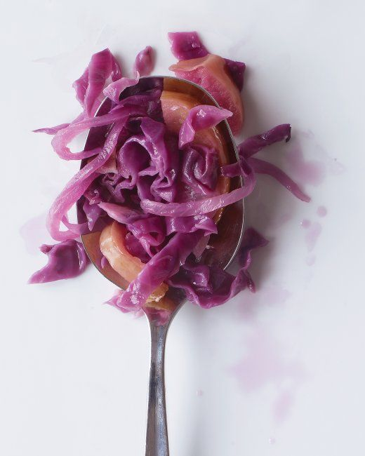 Braised Red Cabbage with Apple and Onion ~ Not just another pretty dish. This is so tasty!