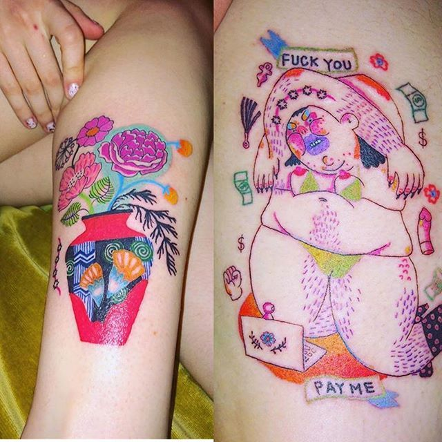 People Let Me Tattoo More Vases And Skulls And Angry Girls And No