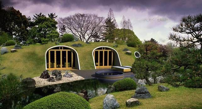 des modules pr fabriqu s pour maison semi enterr e en colombie une hobbit house par colfibrex. Black Bedroom Furniture Sets. Home Design Ideas